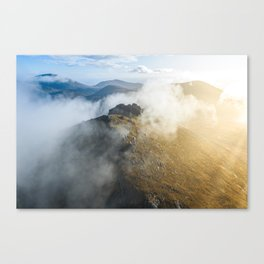 Aerial view of Mourne Mountains Canvas Print