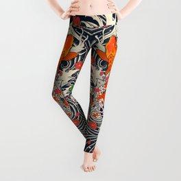 Art of Koi Fish Leggings Leggings