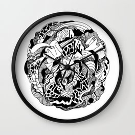 Abstract Wave of Thoughts 1 Wall Clock