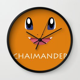 Chaimander all over Wall Clock