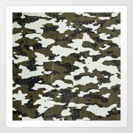 Urban Camouflage Retro Grunge Pattern Art Print