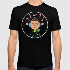 Holiday with Candy MEDIUM Black Mens Fitted Tee