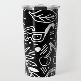 Black & White Minimal Pattern Travel Mug
