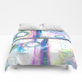 Just the Three of Us, Abstract Art Painting Comforters