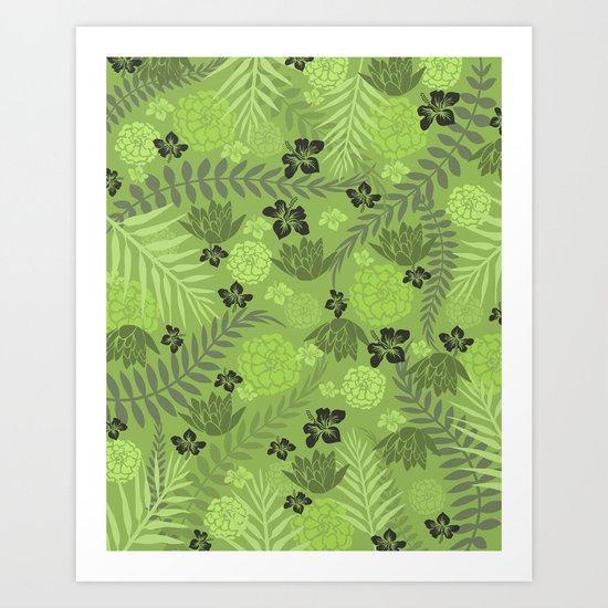 Greenery Floral Art Print