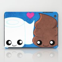 toilet iPad Cases featuring The Best of Friends - Toilet Paper and Poop by Whitney Lynn Art