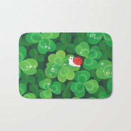 Happy lucky snail Bath Mat