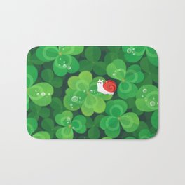 Happy lucky snail Bath Mat