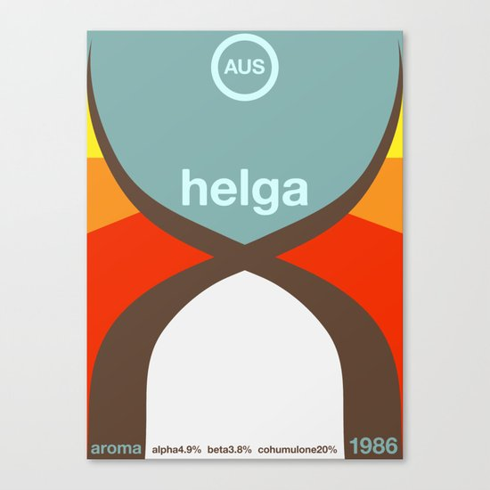 helga single hop Canvas Print
