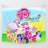 my little pony Wall Tapestries featuring my little pony best for gift by customgift