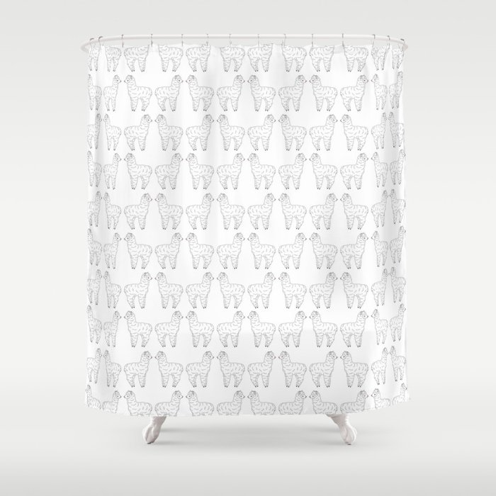 Alpaca Love Shower Curtain by rosieandtheraven | Society6