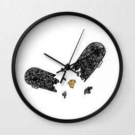 Broken Skate Wall Clock