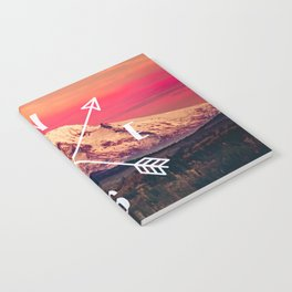 Snowy Mountain Compass Notebook