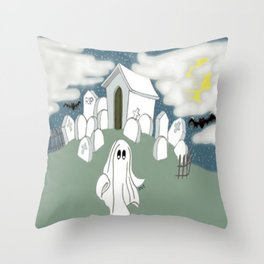 Grave Yard Shift Throw Pillow