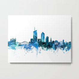 Lyon France Skyline Metal Print