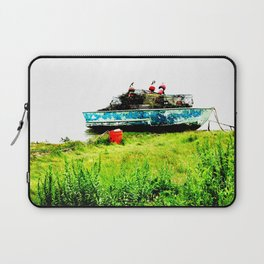 Lobster Dinghy With Lobster Traps Laptop Sleeve