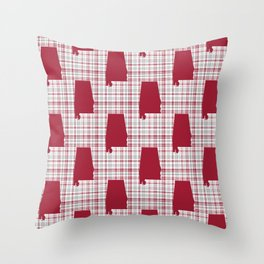 Bama alabama crimson tide pattern gifts for university of alabama students and alumni Throw Pillow