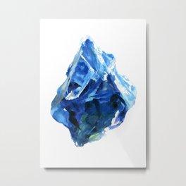 Raw Sapphire Metal Print