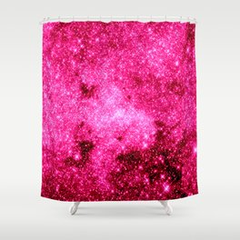 GALaxY Hot Pink Shower Curtain