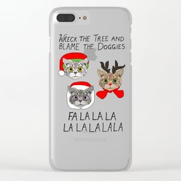 Holiday Cat Brats Clear iPhone Case