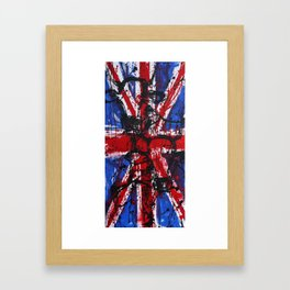 British Cows Union Jack Framed Art Print