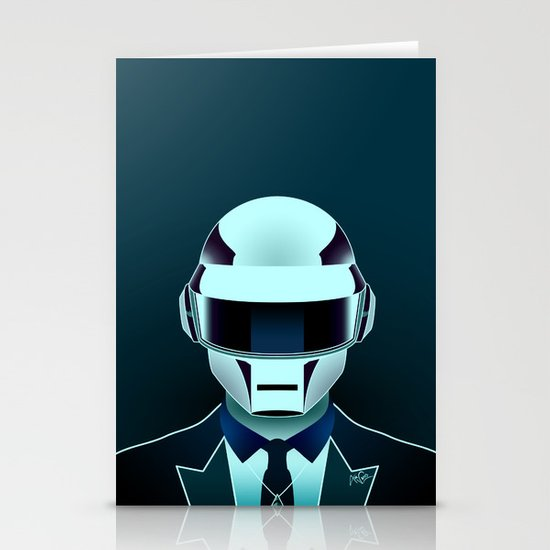 Daft Punk Stationery Cards