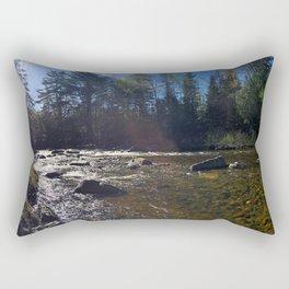 Spring on the Carrabassett River (2) Rectangular Pillow