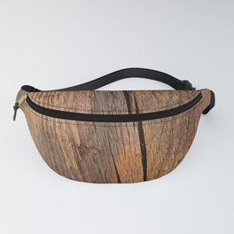 Linden wooden pattern with crack Fanny Pack