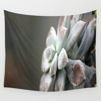 succulent Wall Tapestries featuring Succulent by Inaereaedificare