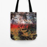 fear Tote Bags featuring FEAR by sametsevincer