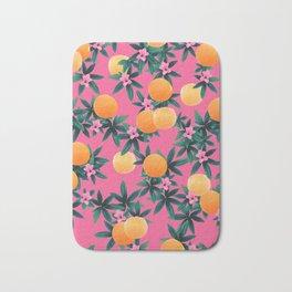 Orange Twist Flower Vibes #1 #tropical #fruit #decor #art #society6 Bath Mat