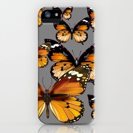 DECORATIVE BUTTERSCOTCH & TOFFEE BROWN BUTTERFLIES ART iPhone Case