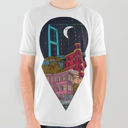 Night carries the lights All Over Graphic Tee