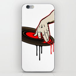 Cool DJ Hand Spinning Turntable Record iPhone Skin