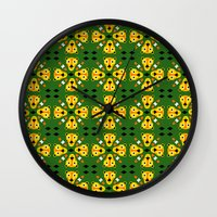 tigers Wall Clocks featuring Tigers! by Hadar Geva