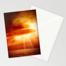sunrise in the sea Stationery Cards