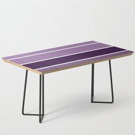 Lavender Purple Stripes Coffee Table