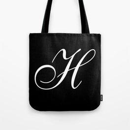 Elegant And Stylish Black And White Monogram H Tote Bag