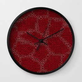 Abstract Skin of the Diamondback Something Wall Clock