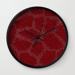 Abstract Skin of the Diamondback Something Wall Clock
