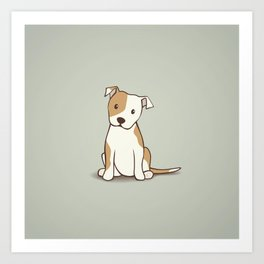 Staffordshire Bull Terrier Dog Illustration Art Print