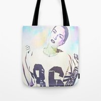 indiana Tote Bags featuring Indiana by Enna