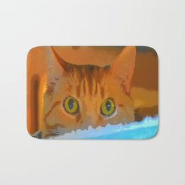 Sir Watson Tabby Digital Cat Bath Mat