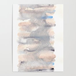 150129 Neutral Cool Abstract 25 Poster