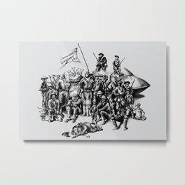 Martian Mounties Metal Print