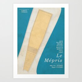 Contempt, Le Mépris, Jean-Luc Godard, Fritz Lang, Brigitte Bardot, french film, new wave, vague Art Print
