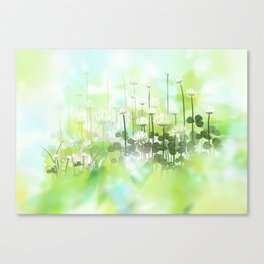 Klee - clover Canvas Print