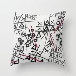 Graffiti Tic Tac Toe Throw Pillow