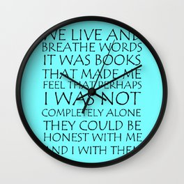 We Live And Breathe Words Wall Clock