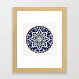 Looking Up Dome Mandala Framed Art Print